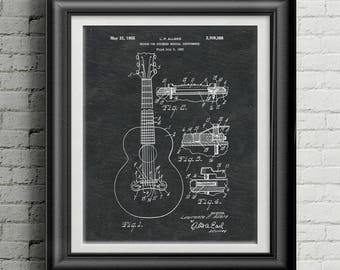 Gibson Stringed Acoustic Guitar Bridge Patent Guitar Print Studio Musician Gift Gibson Acoustic Guitar Wall Art Gibson Guitar Artwork PP5002