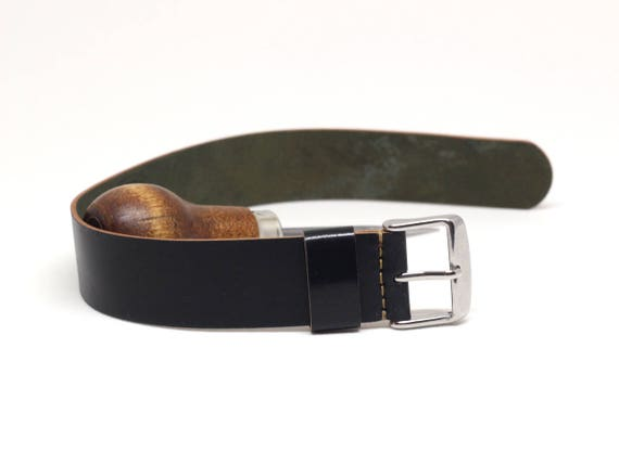 20mm Black Horween Shell Cordovan 1 piece strap