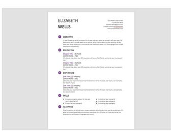professional resume template word doc cv template for ms word creative resume modern - Resume Templates Word Doc
