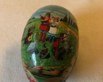 Old Paper Easter Egg Candy Container