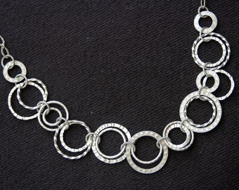 Sterling silver necklace, Fine Sterling Silver Necklace, Unique Design, Vintage Silver Necklace, Israel jewelry (V171)