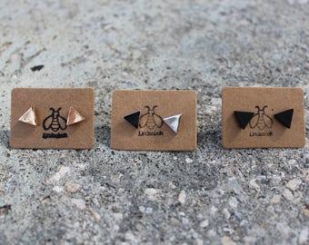 Small Triangle Stud Earrings, Triangle Earrings, small gold triangle, studs, small triangle silver studs  Jewelry, Gift, Minimalist Earrings
