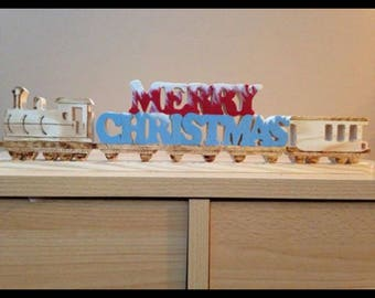 Personalised Wood Art Christmas Signs