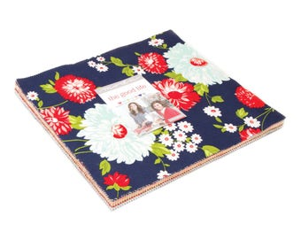"""Moda - 10"""" Squares """"The Good Life"""" by Bonnie & Camille -- 42 -10 inch squares. Layer Cake, Vintage Fabrics, floral fabric, kitchen fabric"""