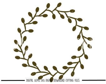 Wreath svg / dxf / eps / png files. Digital download. Compatible with Cricut and Silhouette machines. Small commercial use ok.