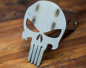 Punisher Trailer Hitch Cover- Stainless Steel