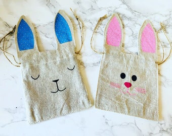 Personalised wooden bunny easter bunny personalised gift mini bunny bag bunny bag easter bag linen drawstring bag personalised negle Choice Image