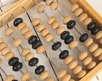 Vintage wood abacus Russian calculator Large wooden abacus Made In USSR abacus Vintage office decor Soviet abacus Back to school