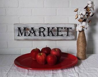 farmhouse sign, farmers market sign, farmhouse kitchen, farmhouse wall decor, market, kitchen wall decor, kitchen decor, handpainted signs