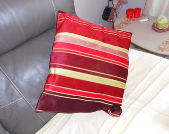 rustic style throw pillow with stripes