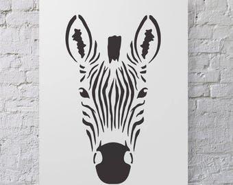CraftStar Large Zebra Stencil - Reusable Zebra Head Stencil