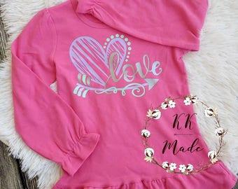 Girls Valentine shirt, Valentine's day shirt, girls Valentine's day shirt, cute Valentine's day shirt, girls Valentine's shirts, love shirt