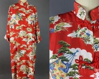 Asian/oriental style robe ; bathrobe; kimono