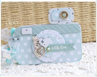 CUTE Camera Mini Album - BABY SHOWER, New Arrival