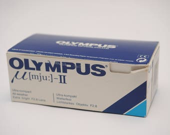 Boxed Olympus Mju II Stylus Epic Compact Camera with case