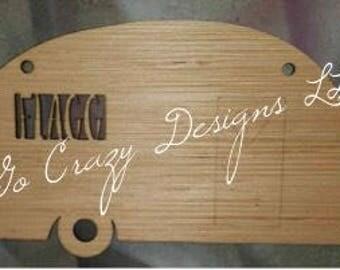 Custom Wooden Camper with Last Name - Door hanger