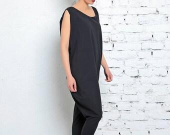 Oversize Jumpsuit / Women Jumpsuit / Maxi Jumpsuit / Plus Size Jumpsuit / Black Jumpsuit / Oversize Pants / Loose Jumpsuit