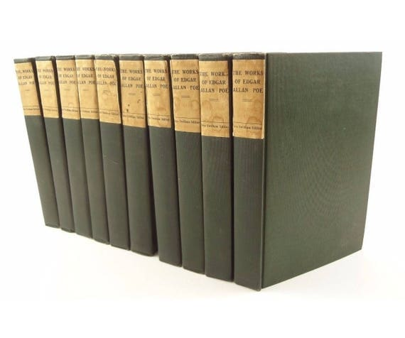 Edgar Allan Poe Works, 10 vol, Limited Edition of 1000, Illustrated, J.R. Lowell bio