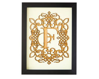 F - FRAMED MONOGRAM