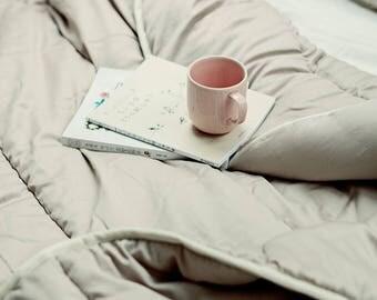 Full comforter. Full size bedding. Wool comforter. All seasons warmth. Medium weight duvet. Grey duvet. Gray comforter. Duvet insert.