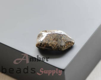 Black Amber stone, Natural amber piece, Amber stone, Polished amber, 1 piece. 0446/11