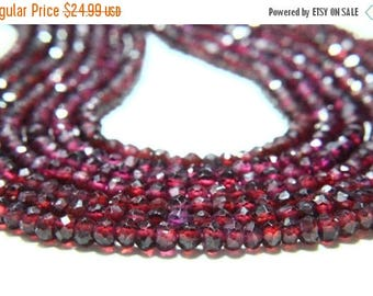 "65% OFF SALE 13"" Full Strand Rhodolite Garnet Rondelle , 3mm to 4mm Rondelles, Garnet Beads Drilled Gemstone Faceted Rondelle Beads Cut Ston"