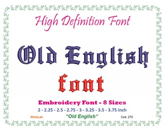 old english embroidery font 8 size