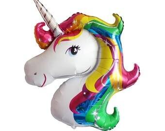 Unicorn Balloon | Unicorn Party Decor | Unicorn Birthday Party | Rainbow Party Decor | Rainbow Birthday | Whimsical Party | Unicorns |