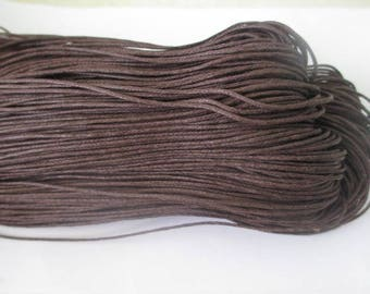 10 meters of thread waxed cotton Brown 0.7 mm