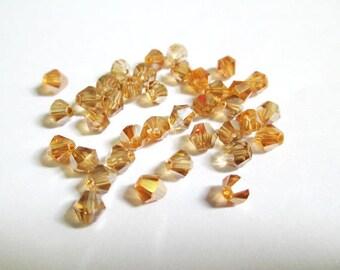 20 iridescent bicone 4mm imitation Austrian Crystal beads