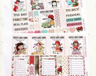 SALE | 75% OFF | Amore' Gitano Planner Layout Stickers