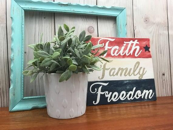Patriotic Decorations, July 4th Decorations, Patriotic Home Decor, American  Flag Decor, Country Home Decor, French Country Home Decor