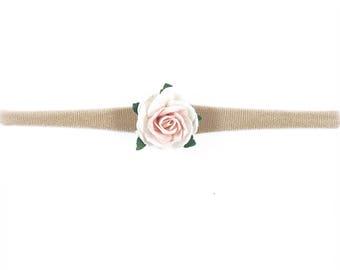 Blush floral headband
