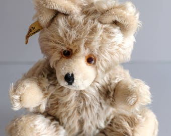 Vintage Fechter Teddy bear with closed mouths