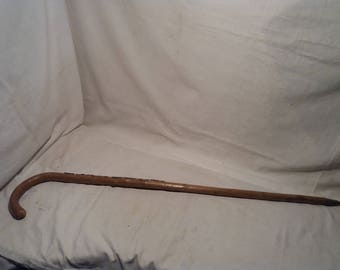 Vintage Wooden Alpenstock / Walking Stick