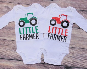 Little Farmer Tractor Baby Bodysuit