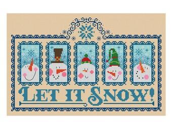 Let It Snow - Durene J Cross Stitch Pattern - DJXS 2250