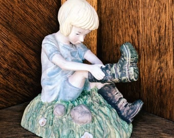 Porcelain Girl And Her Boots