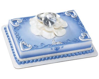 With This Ring -  Diamond Ring Cake Topper