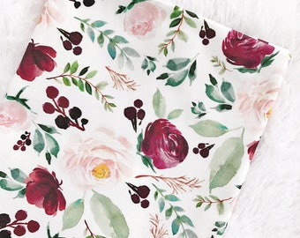 Floral Baby Blanket, Organic Swaddle Blanket, Floral Swaddle Blanket, Baby Blanket, Swaddle Blanket, Toddler Blanket, Fall Floral Blanket