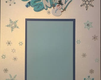 Let It Snow pearlized (1 single page)