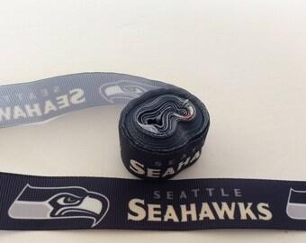 Seattle Seahawks  ribbons, Seattle ribbons, Football Ribbons, football ribbons, 7/8 inch Grosgrain ribbon