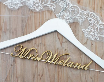 Wedding Dress Hanger, Personalized Wedding hanger, Bridal Hanger, Bridesmaid Dress, Rustic Wedding, Gift for Her, Bridal Gown vet0002