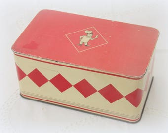 Vintage 'Bolletje' Cookie Tin, Biscuit Box, Holland