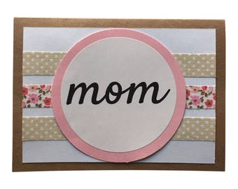 Mother's Day Card, Birthday Card for Mom, Card for Mom, Blank Card for Mom