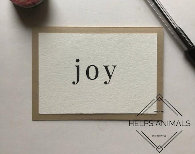 Christmas Card | Rustic Christmas Card | Joy | Simple Christmas Card