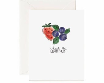 "Thank You "" Thank You Berry Much"" Greeting Card"