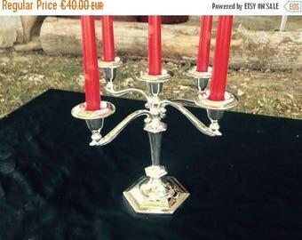 ON SALE Candelabra//Wedding Candelabra//Silver Candle Holder//Silver Candelabra//Vintage Candelabra//Candelabra Centerpiece//Found And Flogg