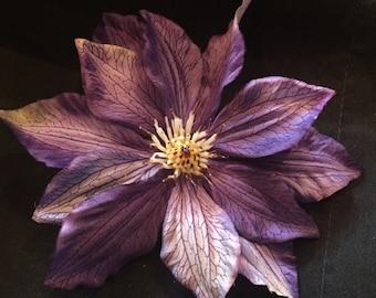 Hair Flower Purple
