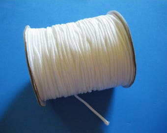 2 mm white braided nylon thread